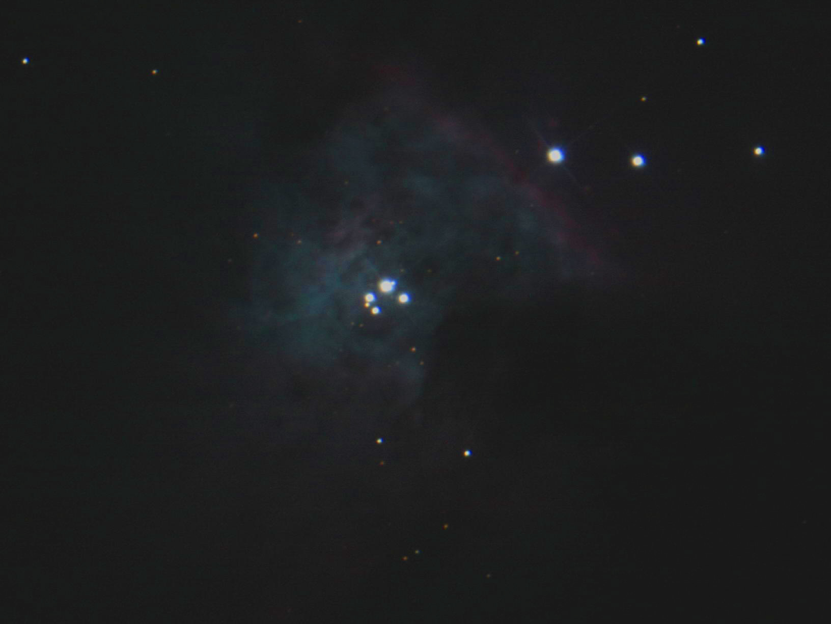 Orion nebula telescope view